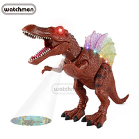 Plastic fashion electronic realistic walking dinosaur toy with sound and projection