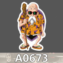 Bevle A0673 Dragon Ball Kame Sennin Master Roshi Waterproof Sticker Cool Laptop Luggage Fridge Phone Graffiti Notebook Stickers(China)