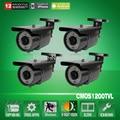 "4pcs 78 IR 1/2.5"" 1200TVL Sony CMOS Sensor Waterproof Outdoor Security CCTV Camera With IR-Cut 2.8-12mm Zoom Lens"