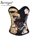 Burvogue Free Shipping Royal Corset Shaper Bustier  Leotard Top Steampunk Sexy New Corset Top For Woman four color