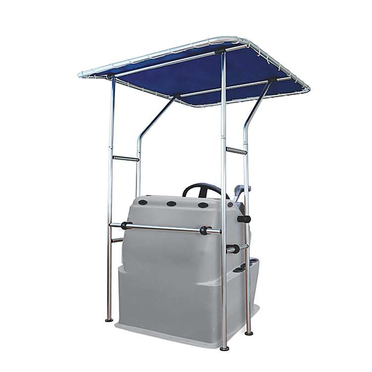 MaxShadeCovers Boat T Top, Boat T-Top, Standard Center Console Boat T-Top ,Aluminum Tube Small 1.7X1.4X2m