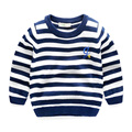 2016 new kids baby sweater 97%cotton 3%spandex Striped children clothing