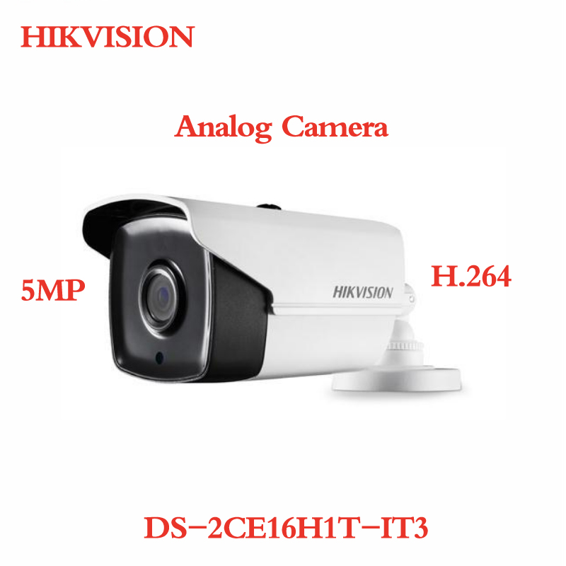 ANXIE Hikvision English Version DS-2CE16H1T-IT3 CCTV Turbo HD TVI Camera 5MP With IR Day/night free shipping english version ds 2ce16c0t irpf 1mp bullet turbo hd camera 20m ir switchable tvi ahd cvi cvbs true day night ip66