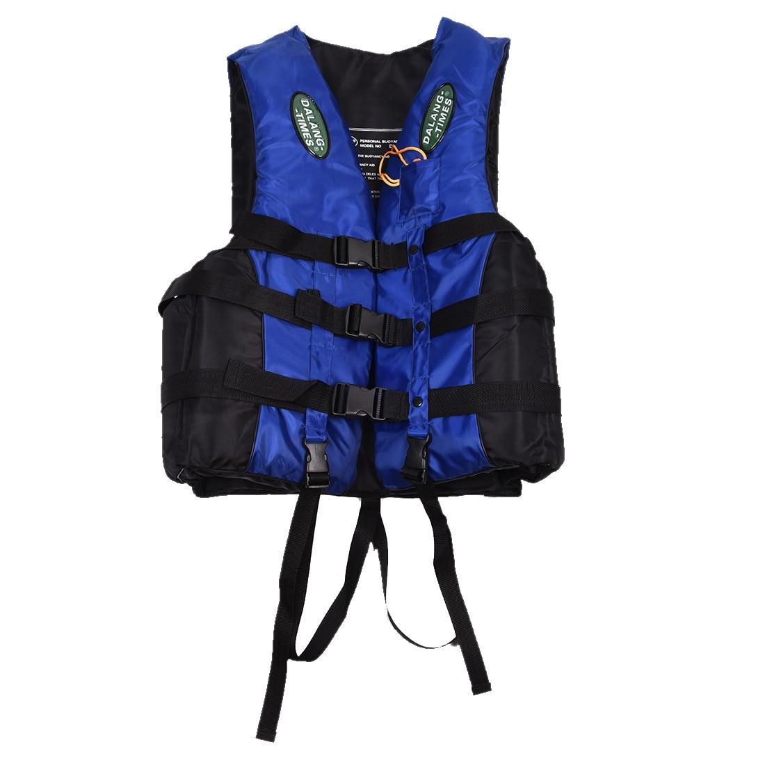 Dalang Times Boating Ski Vest Adult PFD Fully Enclosed Size Adult Life Jacket Blue