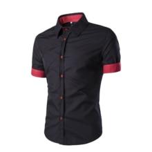 Men Short Sleeve Shirt Male Shirts Men Shirt Brand Dress 2018 Mens Dress Shirts Hawaiian Camisa Social Masculina XXXL IAA