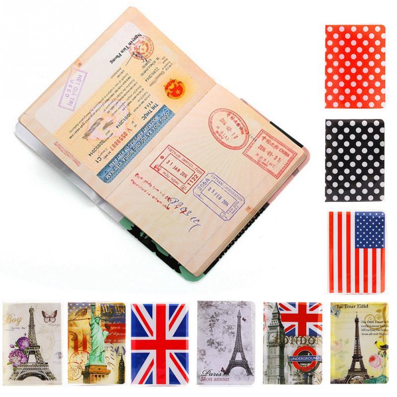 10 Styles Passport Cover Card ID Holders Women Men Travel PVC Document Folder Passport Package Eiffel Tower #20