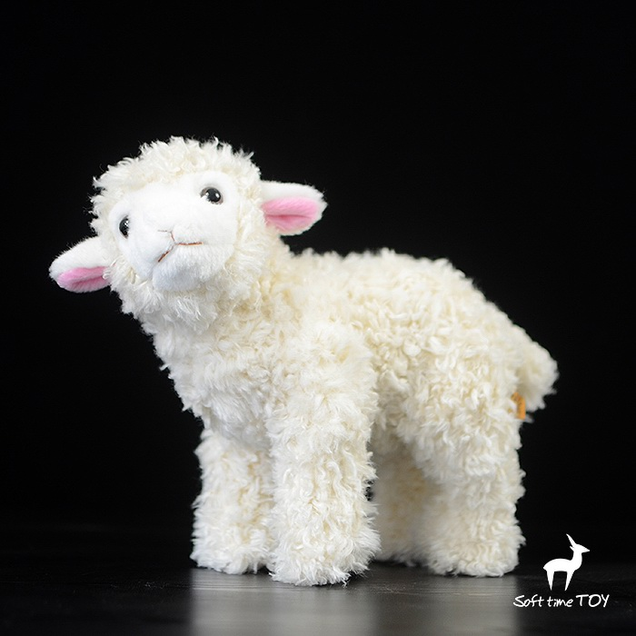 Kids Toys Sheep Doll Simulation Animals Plush Standing Dolls Toy Girls Birthday Gifts