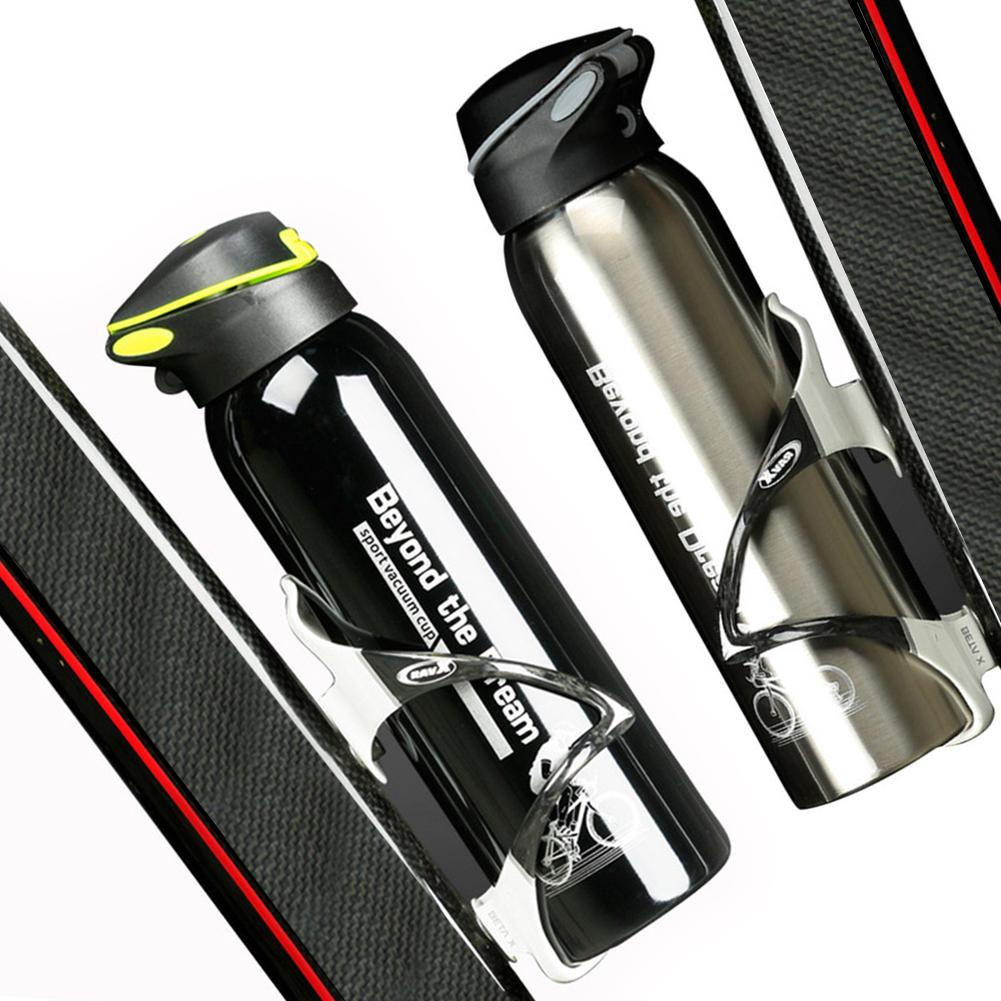 MTB Bicycle Bike Stainless Steel Water Bottle For Cycling Drink Cup 500ml Large