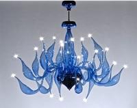 Italy Swan Chandelier Modern Murano Chandeliers Creative Art Glass chandelier Light 24 Head(Light Blue Transparent)Free shipping