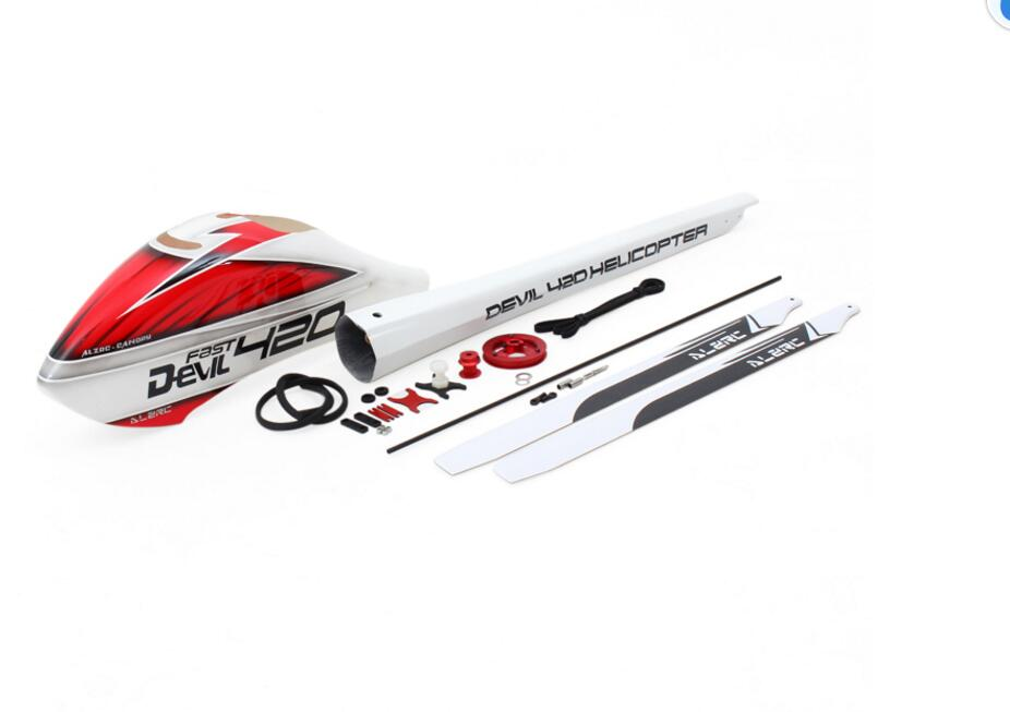 ALZRC - Devil 380 420 Helicpter Parts FAST Canopy &Tail Pipe Upgrade Set - A fit SAB 380 fit os 380