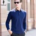 Troilus masculina camisa polo 2017 nueva moda de punto de manga larga camisas de polo de alta calidad de negocios hombres tops camisas delgadas ocasionales Homme