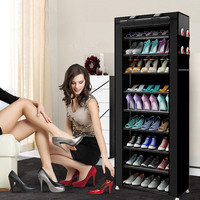 10 layer 9 grid Shoe cabinet Non woven fabrics large Shoe rack organizer removable shoe storage for home furniture
