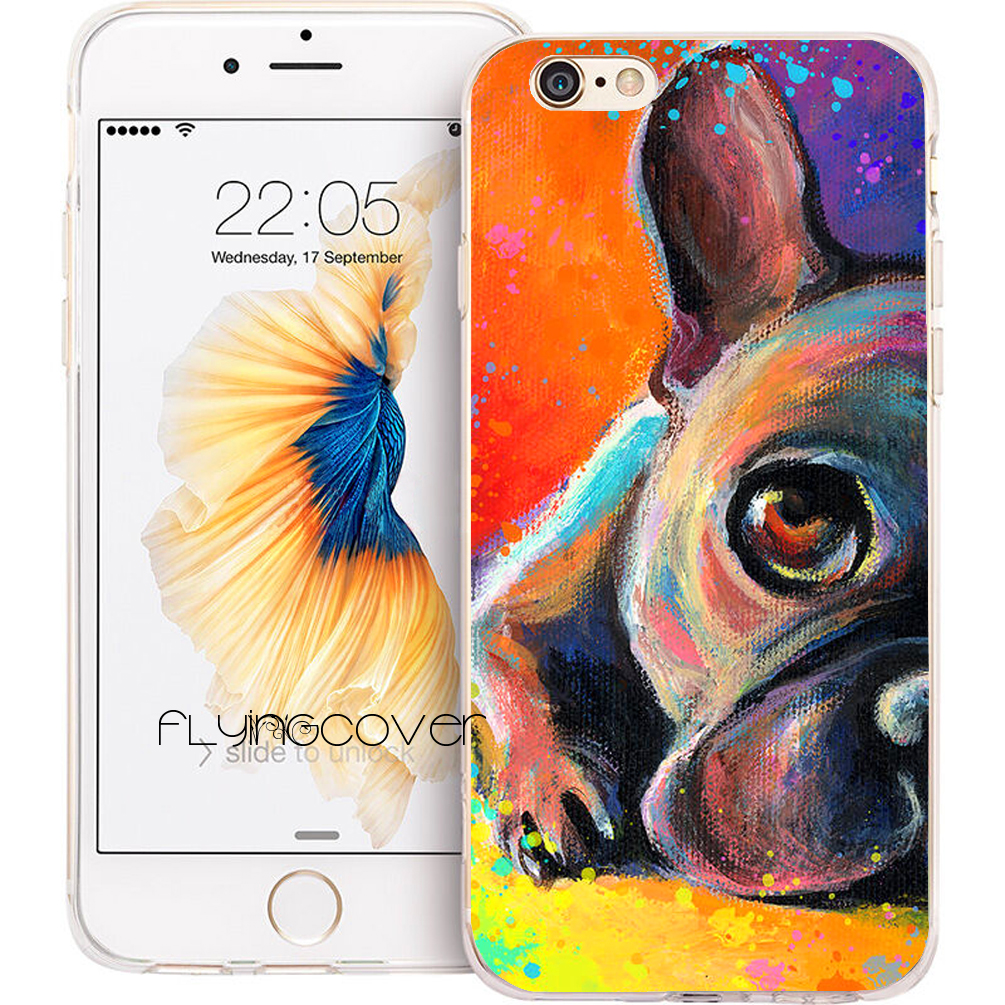 Coque French Bulldog Dog Clear Soft TPU Silicone Phone Cover for iPhone X 7 8 Plus 5S 5 SE 6 6S Plus 4 5C iPod Touch 6 5 Case