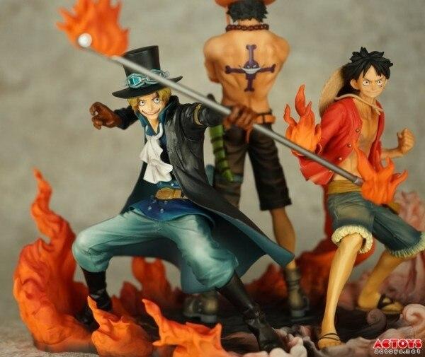 Anime One Piece 3pcs/set PVC Action Figure Collectible Model Toy