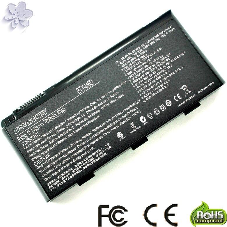 9Cell Notebook Li ion laptop battery BTY M6D for MSI GT660 GT663 GT683 GT685 GT70 GT780