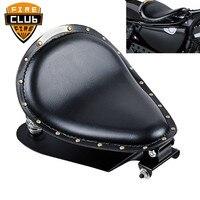for Harley Sportster XL 883 1200 Bobber Chopper Motorcycle Solo Seat Baseplate& Springs& Bracket Mounting Kit