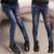 3Y-14Y Adolescente Meninas Calça Jeans 2017 Crianças Primavera Outono Casual Luz Jeans Skinny Patchwork Calças Lápis Apertado