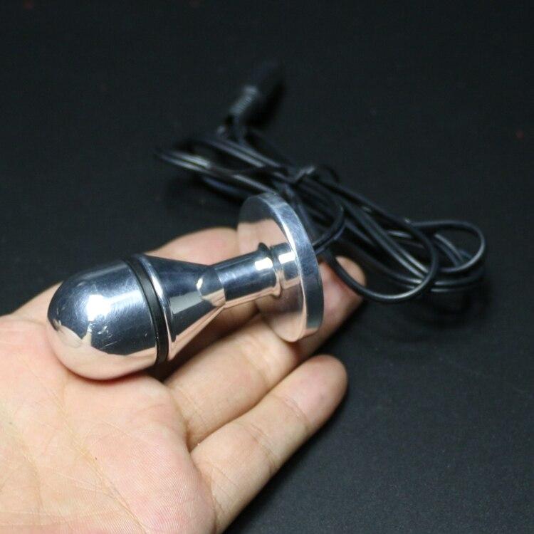 Adult Games Electro Shock Stainless Vagina Plug Butt Plug Anus Plug For Unisex