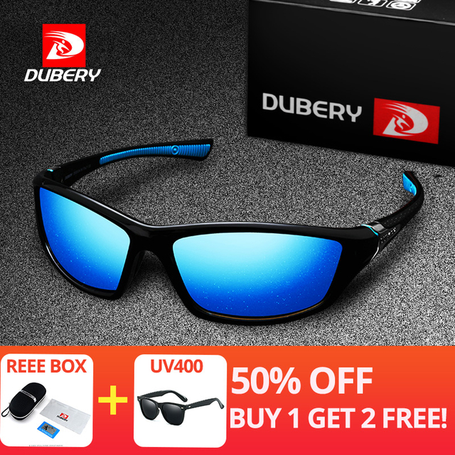 23303b6f5b DUBERY Quadrados Óculos De Sol Dos Homens Polarizados uv400 Alta Qualidade  Da Lente Polaroid Condução Viagem