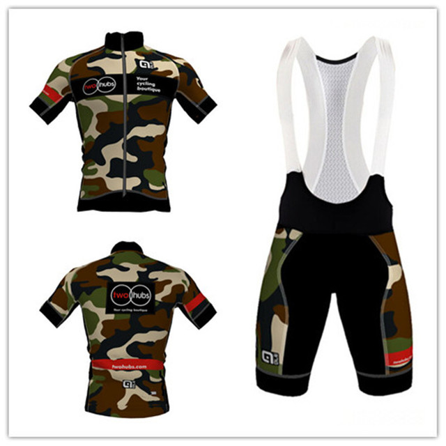 00eea7cdcfc twohubs ALE Camo cycling jersey short sleeve jersey or bib shorts for  spring   summer Bike Riding Shirts maillot bike clothes