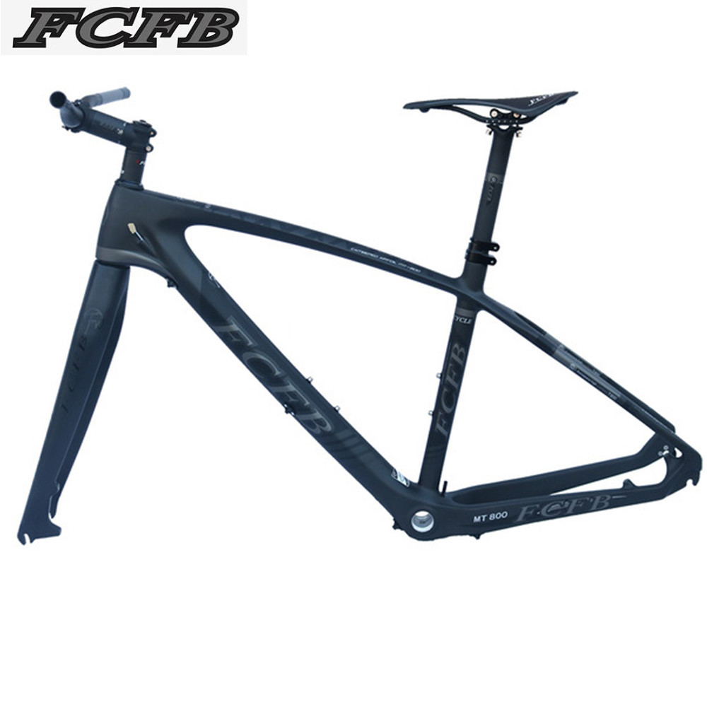2017 FCFB mtb frame  mtb bike frame carbon mountain carbon frame 29er*15.5 17/19inch carbon handlebar seatpost stem saddle giant 26 mountain bike mtb frame atx pro