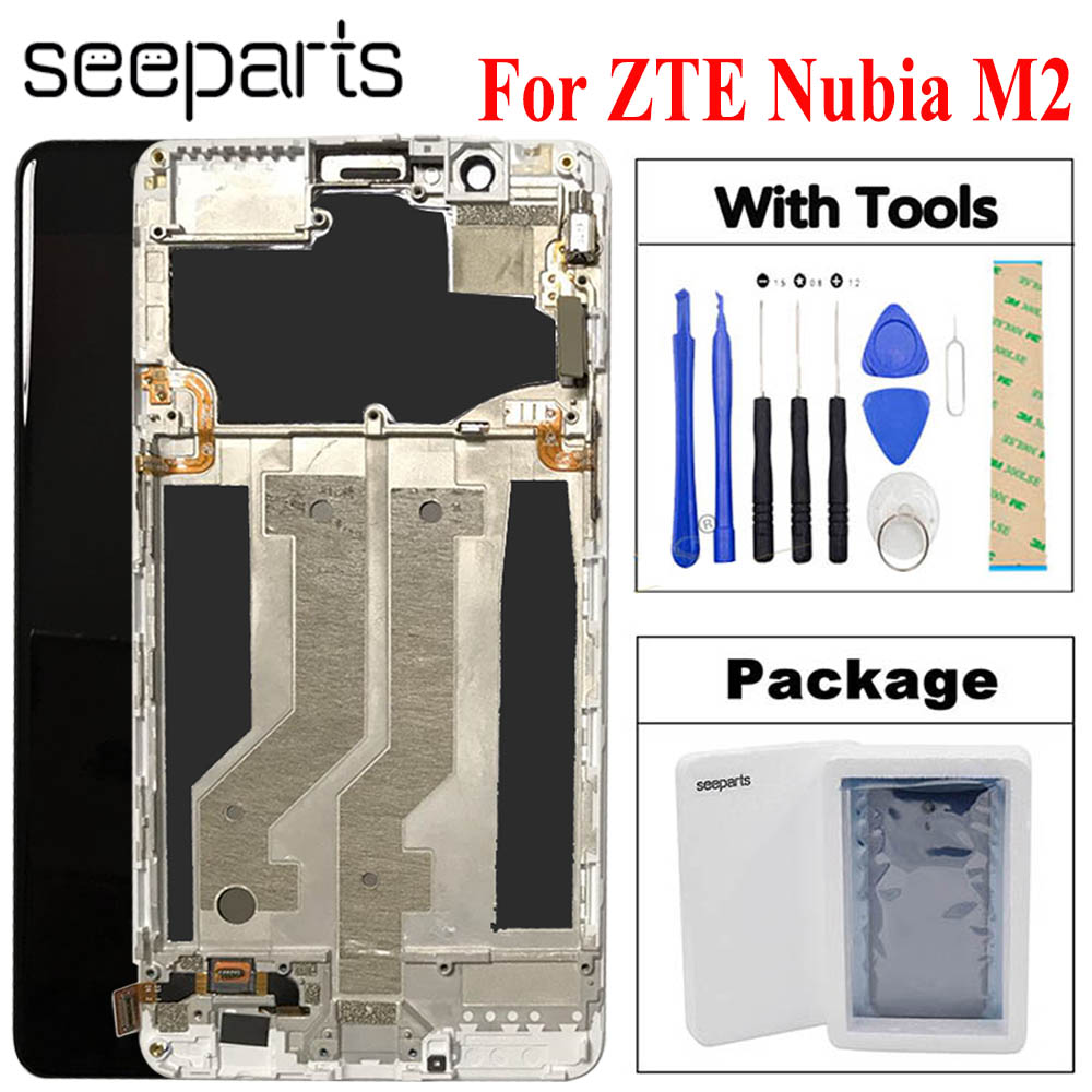 "For 5.5"" ZTE Nubia M2 LCD Display Touch Screen Digitizer Assembly Replacement Parts For ZTE M2 NX551J LCD Display Free Shipping(China)"