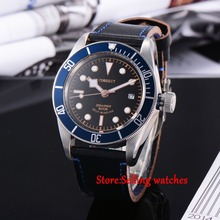 41mm corgeut black dial Sapphire Glass miyota Automatic movement mens Watch C03