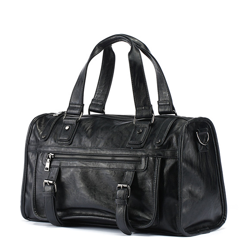 Business Bag Handbag Men Pu Leather Fashion Solid Crossbody Bags Male Large Capacity Messenger Portable Travel Bag Organizer