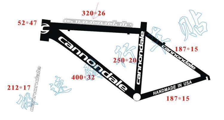 Für marke rennrad berg rahmen aufkleber bisiklet reflektierende aufkleber geschnitzt MTB band fahrrad radfahren räder gabel diy aufkleber