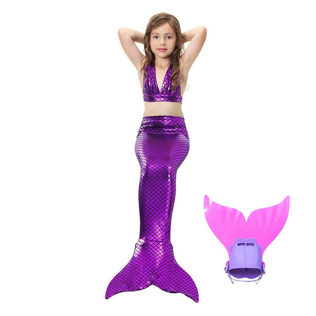 Shining Mermaid Tail Biniki Monofin Swimmable Tail Top Swimming Costume Cosplay