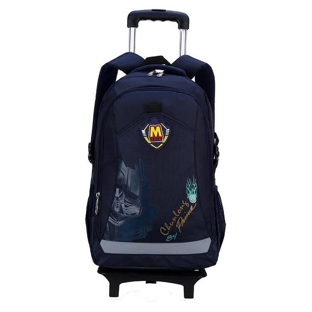 2016 Cartoon Waterproof Boys and girls flash Trolley School Bag Classic Travel Luggage Suitcase On Wheels Kids Rolling Backpack