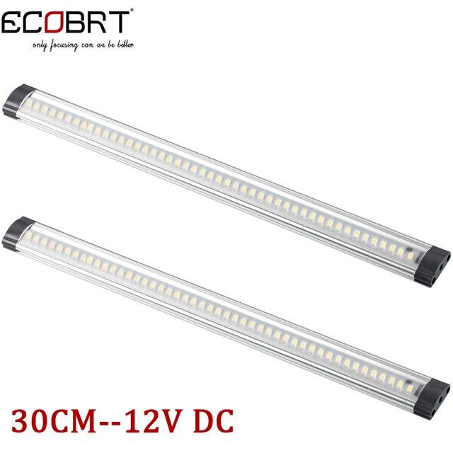ECOBRT Linkable Luminaria Led Bar Lights Aluminum 12V 3W Kitchen Under Cabinet Lights in Caravan Furniture Wardrobe 2pcs/lot
