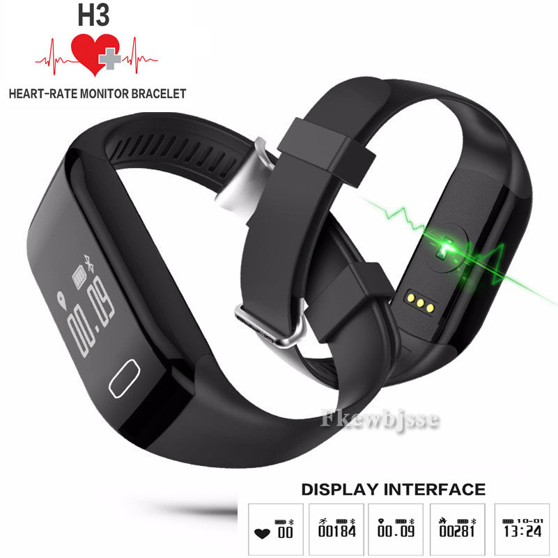 GZDL H3 Smart Watch Heart Rate Monitor Pedometer Health Activity Fitness Tracker Wristband Bracelet For IOS