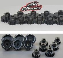 цена на GWOLVES 1/10 1/8 M1 5mm hole 14T 17T 18T High quality hardened motor gear for 5mm shaft motor Buggy drift Monster truck Crawler