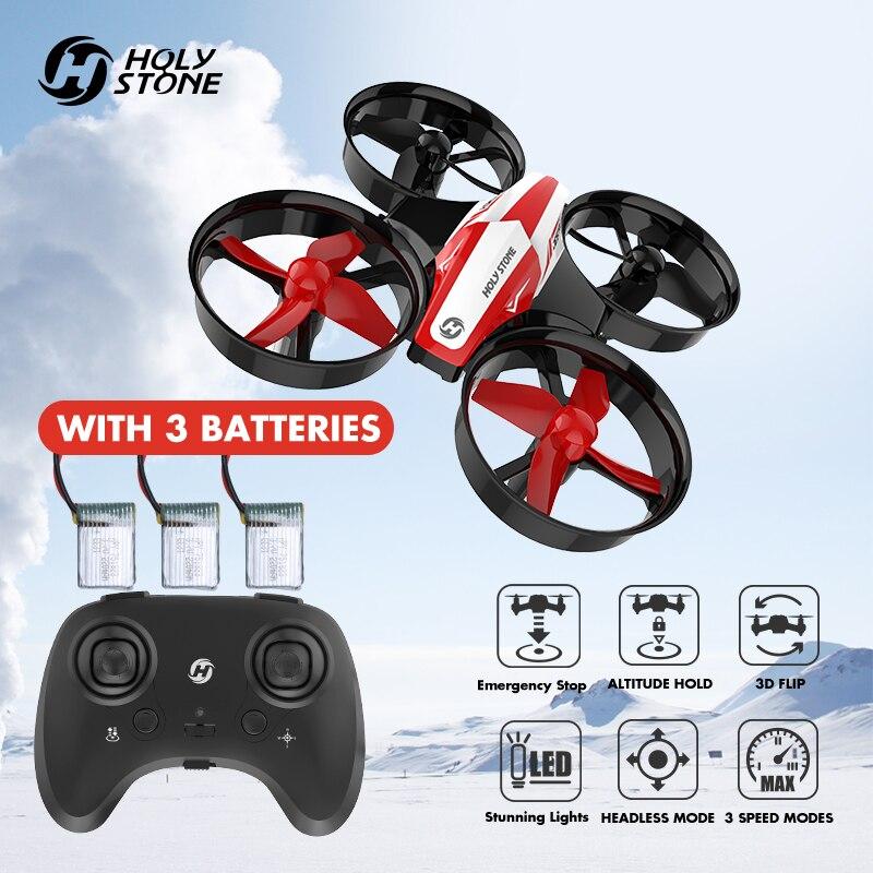 Saint Pierre HS210 Mini RC Drone Quadricoptères 3 pc 220 mah Batteries Sans Tête Mode Un Retour Key Auto Planant 3D flip VS JJRC H36