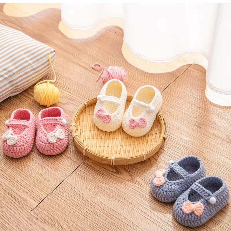 QYFLYXUEQYFLYXUE-  Handmade Crochet Wool Crochet Knitted Baby Shoes, Sandals Garden Shoes, Newborn Shoes, Baby Gifts