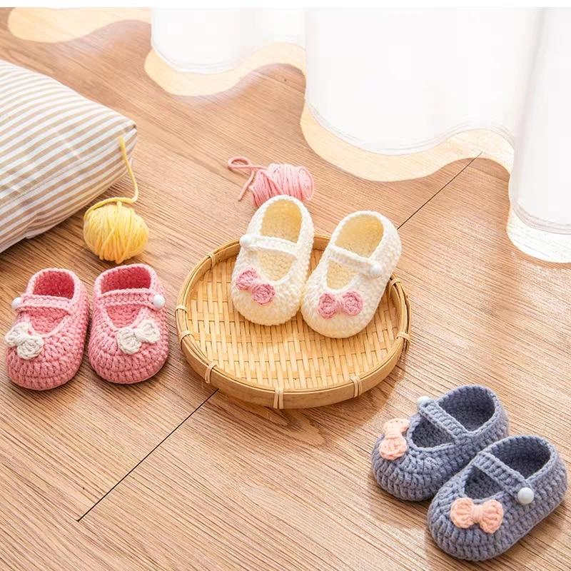 QYFLYXUEQYFLYXUE-  Handmade Crochet Wool Crochet Knitted Baby Shoes, Sandals Garden Shoes, Newborn Shoes, Baby Gifts