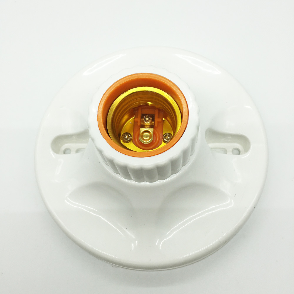 E27 LED Light Bulb Holder Round Square E27 Base Hanging Lamp Socket Fitting Socket With US Plug Switch For Home 6A 110V-220V