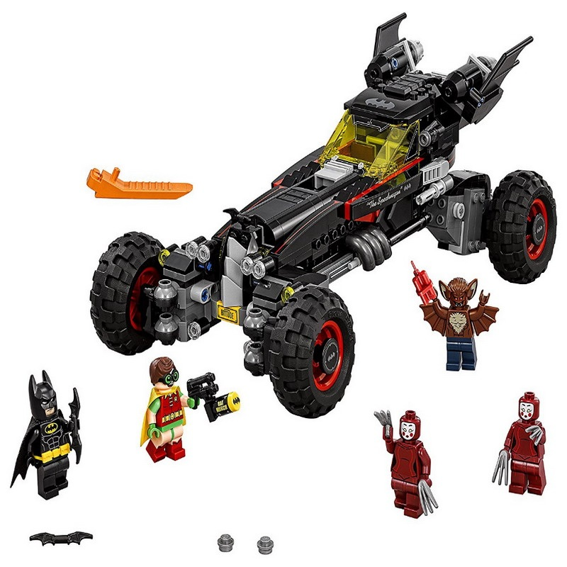 07045 LEPIN Batman Series The Batmobile Model Building Blocks Enlighten Figure Toys For Children Compatible Legoe 2017 lepin 07045 batman movie batmobile features robin man bat kabuki building block toys compatible with legoe batman 70905
