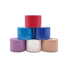 6 Rolls/set 8 Color 5cm x 5m sports kinesiology Elbow pads Muscle Sticker Tape Cotton Elastic Adhesive Bandage Care F