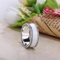 NEW! Perfect charms logo Engraved S925 Silver Aautumn collection United Regal Hearts ring charms rose rings women jewelry