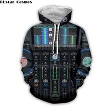 цена на Dj controller 3D HD printed Hoodie Men Hoodies for Rock Dj disco player sweatsthirts DJ Top LED Flashing Equalizer EL pullover 2