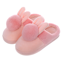 Children'S Cotton Indoor Slippers Shoes Kids Winter Boys And Girls Home Slippers Baby Non-Slip Cartoon Cute Plush Warming Shoes