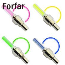 Forfar 4 colors Outdoor Bicycle Car LED Neon Tire Wheel Gas Nozzle Valve Glow Stick Light Cycling Drving outdoor tool