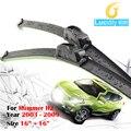 1 Пара Автомобиля Стеклоочиститель Лезвия Мягкой Резины Bracketless Стеклоочиститель Для Hummer H2 2003-2009