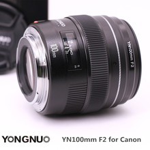 Ulanzi YONGNUO YN100mm F2 Средний телефото премьер Камера объектив с фиксированным фокусным расстоянием Длина Диафрагма F/2-F/22 для Canon EOS Rebel AF mf