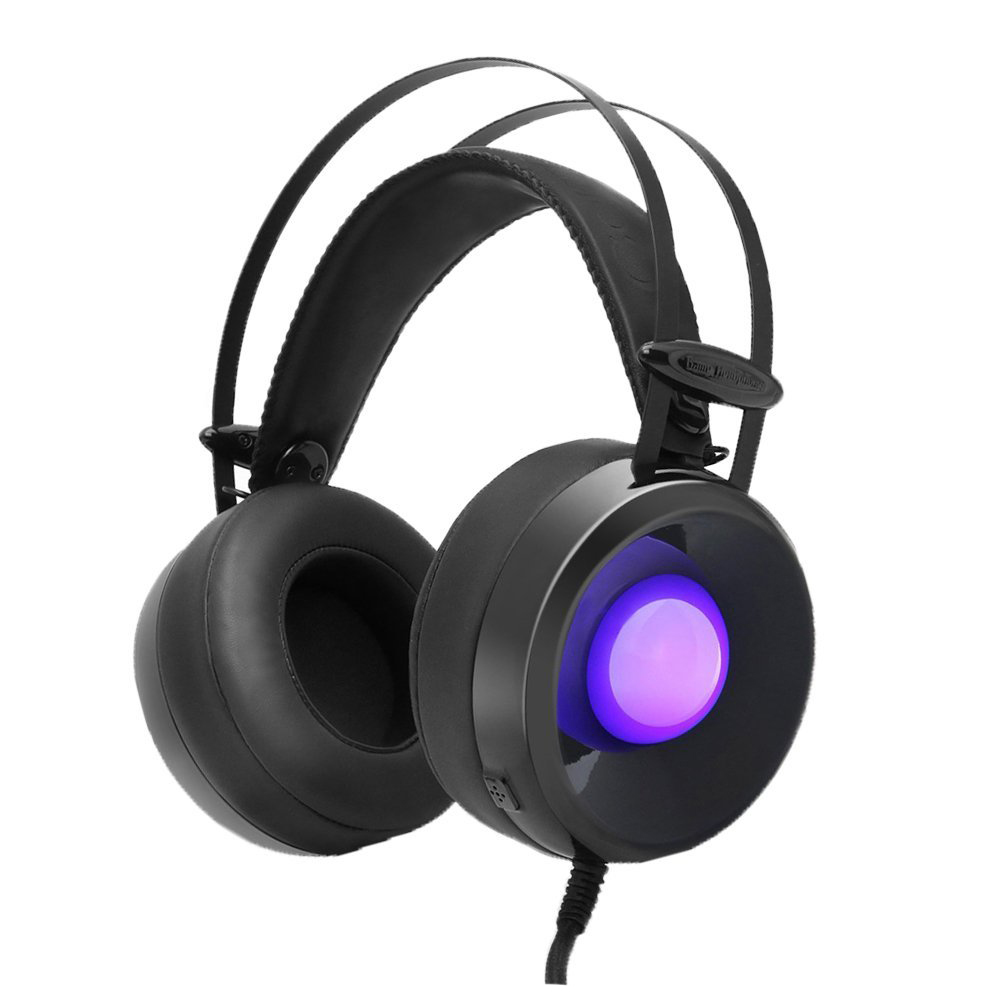 Combaterwing M170 Professional 3.5mm PC Stereo Gaming Headset With Mic Over-Ear Headphones Volume Control 4 Kinds of Breathing combaterwing m160 headset earphone ultra light ergonomic headphones over ear stereo with mic noise isolating for pc mac th58