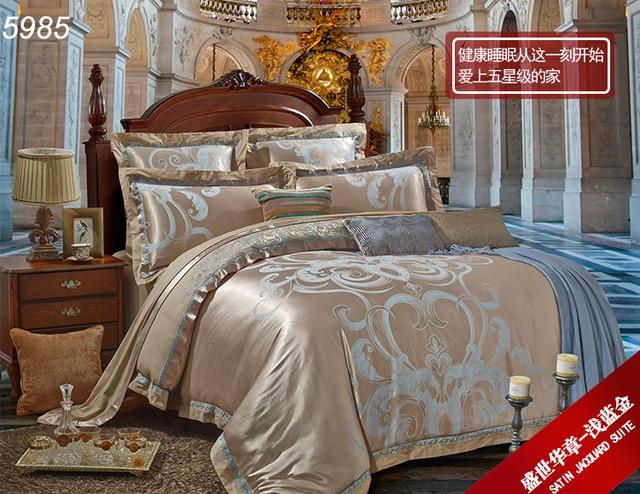 Bamboo Fiber Bedding Set Luxury Bed Clothes 4pcs/6pcs Bed Sets Queen King Bed  Linens