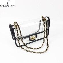Caker Brand 2019 Women PVC Transparent Square Handbag Fashion High Quality Chain Crossbody Shoulder Bags Wholesale