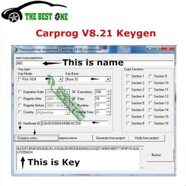 US $5 09 49% OFF|Carprog V8 21 Keygen Online Activator Car Prog 8 21  Generator Activation Key For Hardware ID Car Prog Online Programming SW  Link-in